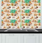 "Kids Kitchen Curtains 2 Panel Set Home Decor Window Drapes 55"" x 39"" Ambesonne"