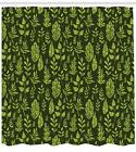 Sage Pattern Shower Curtain Fabric Decor Set with Hooks 4 Sizes