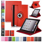 360 Rotating Leather Folio Case Cover Stand For Apple iPad 234 Mini 2 3 4 Air1 2 <br/> Ship From US & Fast / Smart Function♬ High Quality♬ USA