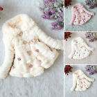 Kids Girls Baby Toddler Faux Fur Fleece Coat Winter Warm Jac