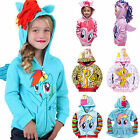 Kids Girls Hoodie My Little Pony Jumper Sweater Sweatshirt Winter Coat Jacket