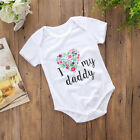 """Newborn Baby Girls """"I Love My Daddy"""" Romper Jumpsuit Bodysuit Outfits Clothes US"""