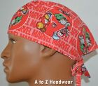Marvel Characters Kawaii Red Unisex Surgical Scrub Hat Cap*Size REGULAR