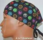 Marvel Characters Icons Black Unisex Surgical Scrub Hat Cap*Size REGULAR