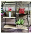 Set of 2 Small Round Metal Cube Wall Shelves Storage Decor Display Shelving Unit