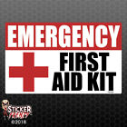 Emergency First Aid Kit Sticker - Osha Safety Vinyl Decal Sign Medical 1st Fe052