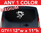 """PITTSBURGH """" PENGUINS """"  WALL AUTO DECAL STICKER 12""""w x 11""""h ANY 1 COLOR $13.99 USD on eBay"""