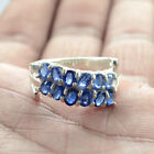 Beautiful Design Natural 4x3 Mm Blue Kyanite 925 Solid Silver Ring For Girl L1