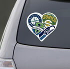 Love Seattle Sports Car Laptop Sticker Decal | Seahawks Sonics Mariners Sounders on eBay
