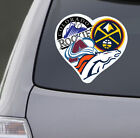 Love Denver Colorado Sports Car Sticker Decal Avalanche Rockies Broncos Nuggets on eBay