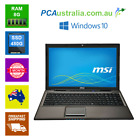 "Msi Cr61 15.6"" Notebook Laptop Windows 7,  Dvd Burner, Webcam, Wi-fi"