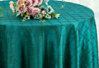 "Wedding Linens Inc. 132"" Pintuck Taffeta Round Tablecloth"