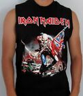 IRON MAIDEN TROOPER PUNK ROCK  SLEEVELESS SHIRT MENS SIZES image