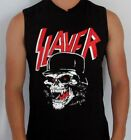SLAYER SKULL PUNK ROCK  SLEEVELESS SHIRT MENS SIZES image
