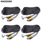 50ft 100ft 150ft Security Camera Cable Video Power Cord BNC RCA CCTV DVR  Black