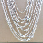 10pcs Wholesale 925 Sterling Solid Silver Plated 1mm Cross Chain Necklace