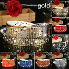 Crystal Rhinestone Studded Belt Women Faux Leather Bling Waist Strap Accessory
