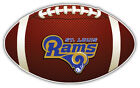 St. Louis Rams Full NFL Logo Ball Car Bumper Sticker Decal -  3'',5'',6''or 8'' on eBay