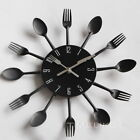 Cutlery Metal Kitchen Wall Clock Spoon Fork Creative Quartz Wall Mounted Clocks