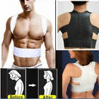UK Mens Womens Magnetic Therapy Posture Corrector Bad Back Support Belt Brace