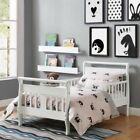 Toddler Bed Frame Furniture For Kids White Sleigh Low Profile Child Boy Girl