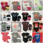 Внешний вид - Nike Jordan Infant Girl Boy 3 Piece Gift Set Bodysuit Booties Cap 0/6  6/12 Mo