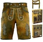 Внешний вид - AUTHENTIC MEN BAVARIAN LEDERHOSEN MEN TRACHTEN OKTOBERFEST GENUINE LEATHER SHORT
