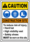 To Reduce Risk of Injury PPE Sign 8