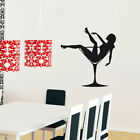Vinyl Decal Lady James Bond Sexy Girl Woman Martini Glass Wall Sticker 60x60cm $7.99 USD on eBay