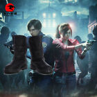 DFYM Resident Evil 2 Biohazard Re:2 Claire Redfield Cosplay Leather Boots Shoes