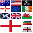 Large 3x5ft World Flag Country England GB Rainbow Football St George EU National