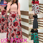 Plus Size Women Long Sleeve Floral Boho Party Bodycon Corset Maxi Dress Clothing