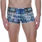 Bruno Banani Mens Underwear Surveillance Hip Short Boxer Brief Trunk Blue Video