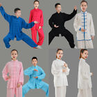 Chinese Kung Fu Tai Chi Cotton Silk Uniform Martial Arts Wushu Wing Chun Sets