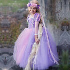Sofia The First Princess Rapunzel Fancy Dress Girls Kids for Cosplay Halloween