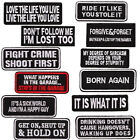 Humour Funny Slogan Embroidered Patches Motorcycle Biker Badges DIY