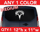"Team Mathews Deer Head Hunting Hunter Decal Sticker 12""h X 11""w  Any 1 Color"