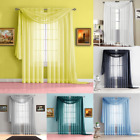 Внешний вид - 3PC SET HOME DECOR VOILE SHEER PANEL WINDOW DRESSING CURTAIN WITH SCARF VALANCE