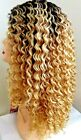 """HAILEY - 16"""" Deep Curly Human Hair Blend Lace Front Wig - Janet Collection"""