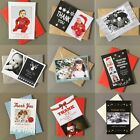 Personalised Pack of Christmas Thank You Cards + Envelopes Folded or Flat