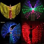 LED isis wings belly dance light up show cosplay prop sticks 182 lights