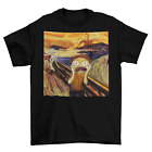 The Scream T-Shirt Unisex Adult Cotton Sizes Edvard Munch Art New image
