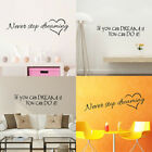 If You Can Dream It Walt Disney Quote Wall Sticker Home Kids