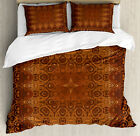 Vintage Duvet Cover Set with Pillow Shams Persian Arabic Lace Print image