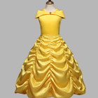 Princess Belle Yellow Off Shoulder Layered Costume Dress Little Girl 3-7 Years