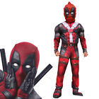 3D Deluxe Boys Marvel Deadpool Muscle Kids Halloween Party C