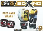 Boxing Gloves MMA Pro Style Training Muay Thai Fight PU Sparring Hand Wraps UFC