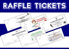 Personalised Raffle Tickets - Printed cloakroom Draw Tickets - FREE P&P logos