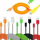 1M 2M 3M Braided USB Charger Data Cable Lead for Samsung Galaxy S5 S6 S7 Edge