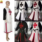 Medieval Templar Knight Cosplay Jumpsuit Costume Adult Crusader Suits Halloween